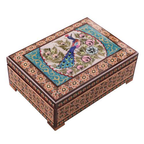 جعبه جواهرات خاتم کاری کد 849