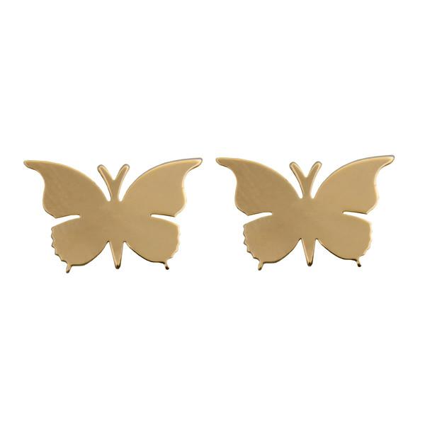 گوشواره طلا 18 عیار زنانه طرح پروانه کد 452M170