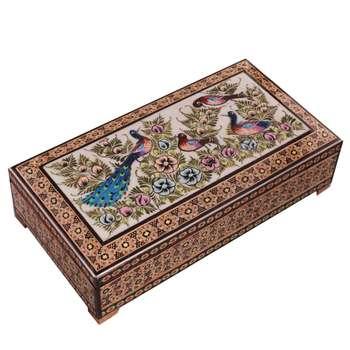 جعبه جواهرات خاتم کاری کد 859