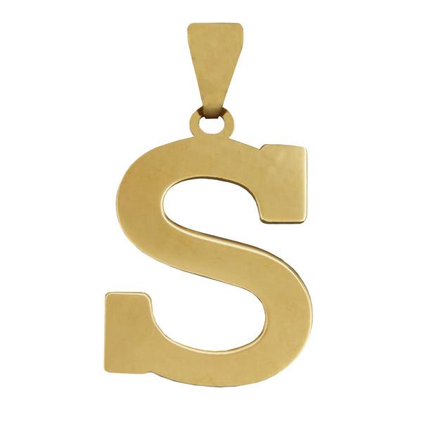 آویز گردنبند طلا 18 عیار زنانه طرح S کد 457M175