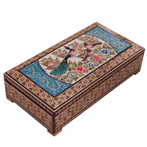جعبه جواهرات خاتم کاری کد 861