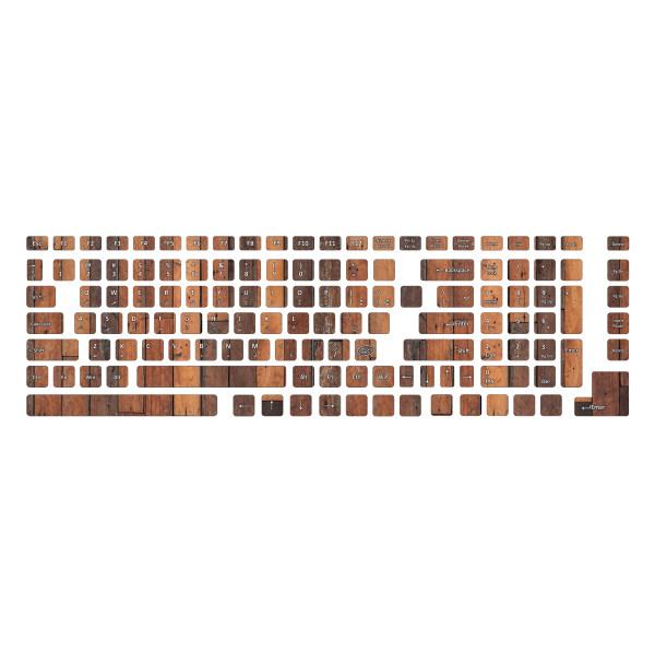 برچسب حروف فارسی کیبورد طرح چوب کد 11