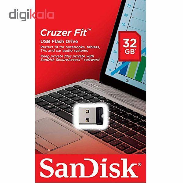 فلش مموری سن دیسک مدل Cruzer Fit CZ33 ظرفیت 32 گیگابایت main 1 5