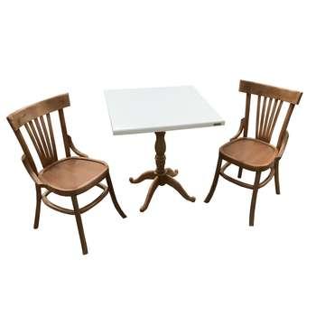 میز و صندلی ناهار خوری اسپرسان چوب کد Sm53