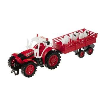ماشین بازی دورج تویز طرح تراکتور یدک کش مزرعه