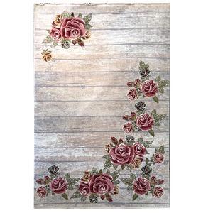 فرش ماشینی دنیای فرش مدل گل ها کد 53822