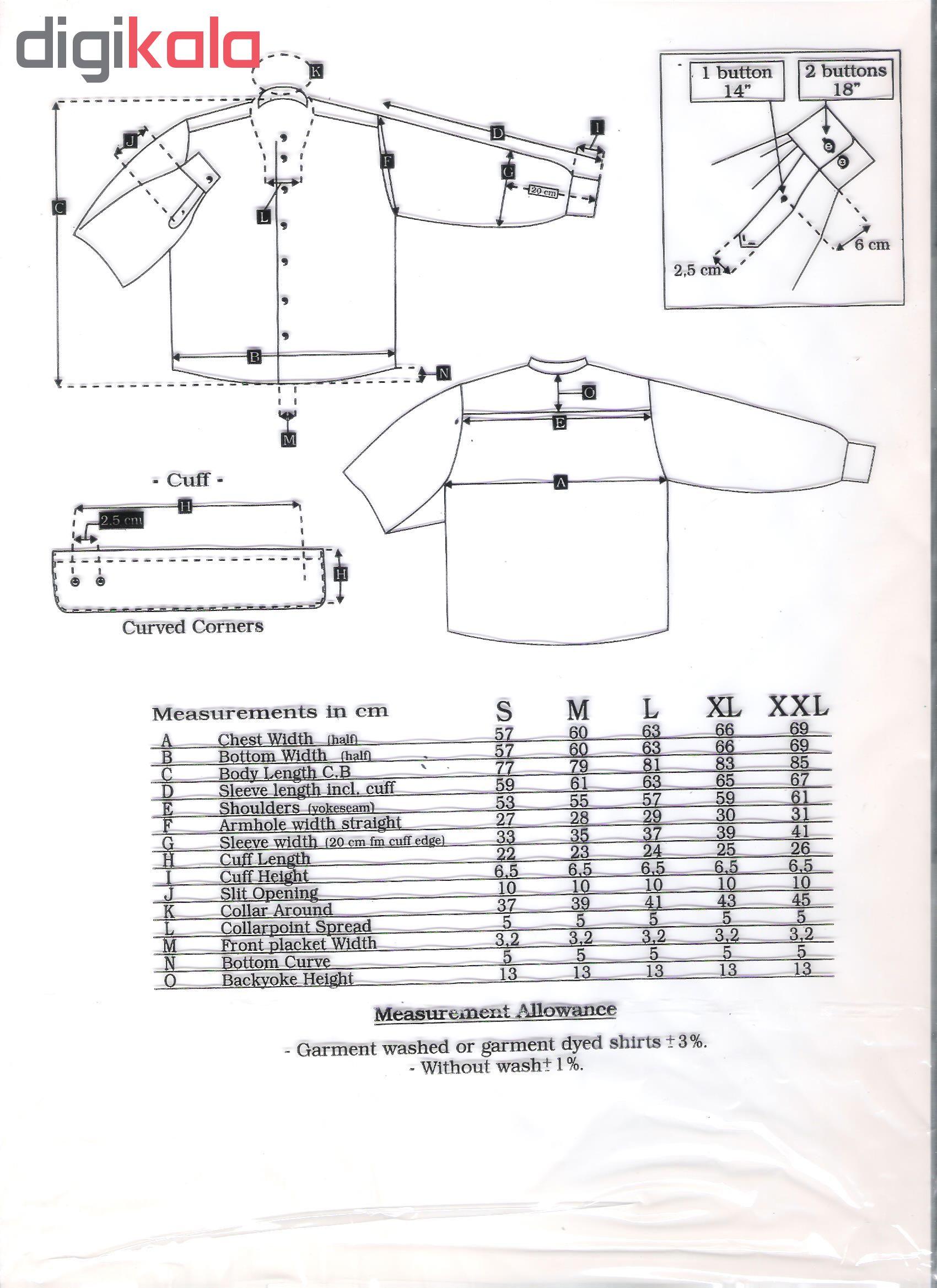 پیراهن مردانه نوید کد ROH-20400 رنگ زرشکی