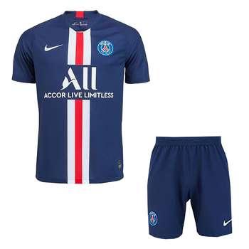 ست پیراهن و شورت ورزشی مردانه طرح پاریس سنت ژرمن کد 2020