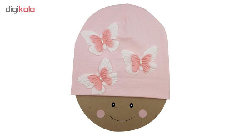 کلاه دخترانه طرح پروانه کد mp161