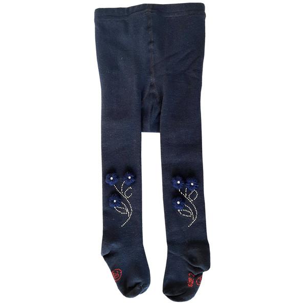 جوراب شلواری دخترانه کد 2200 رنگ سورمه ای