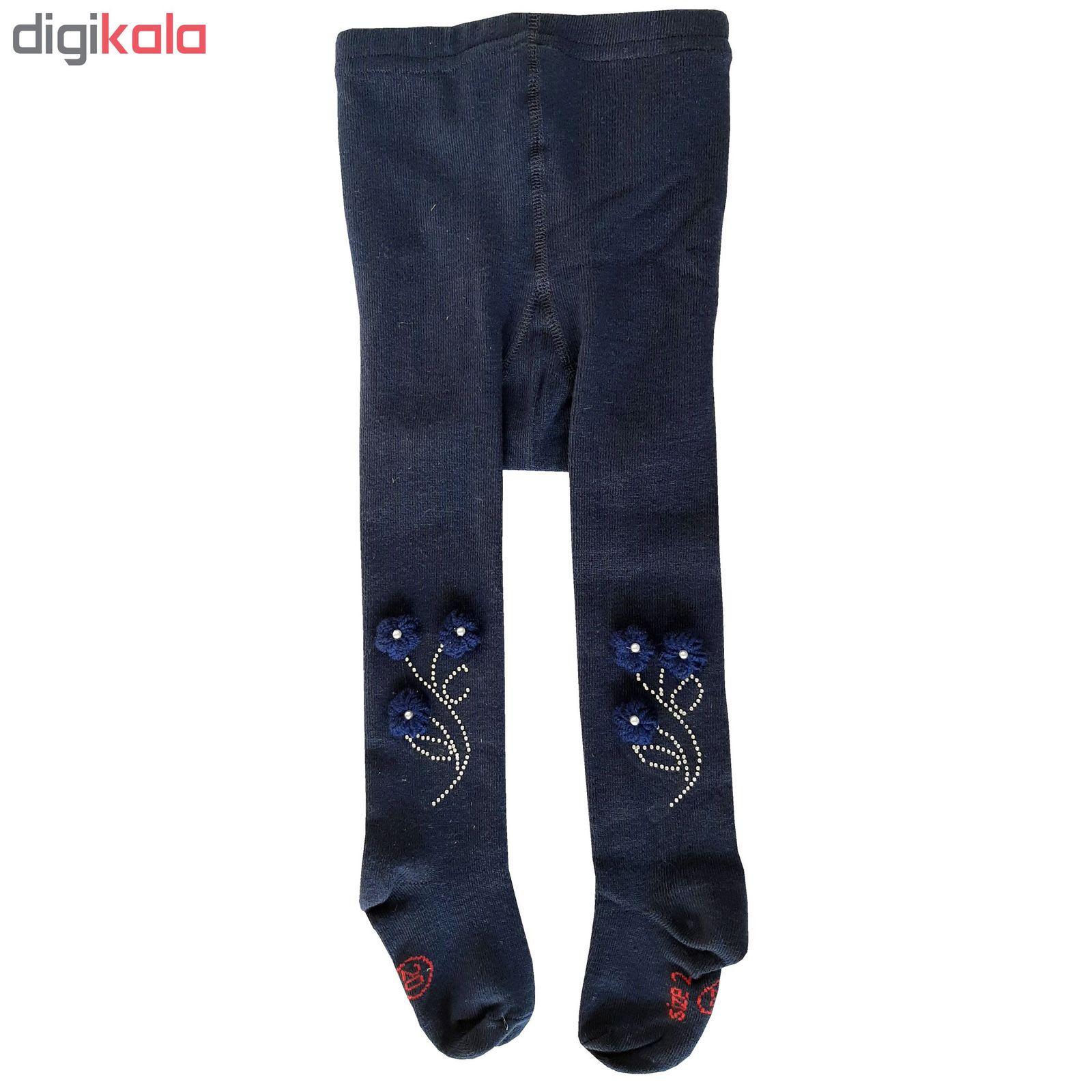 جوراب شلواری دخترانه کد 2200 رنگ سورمه ای main 1 1