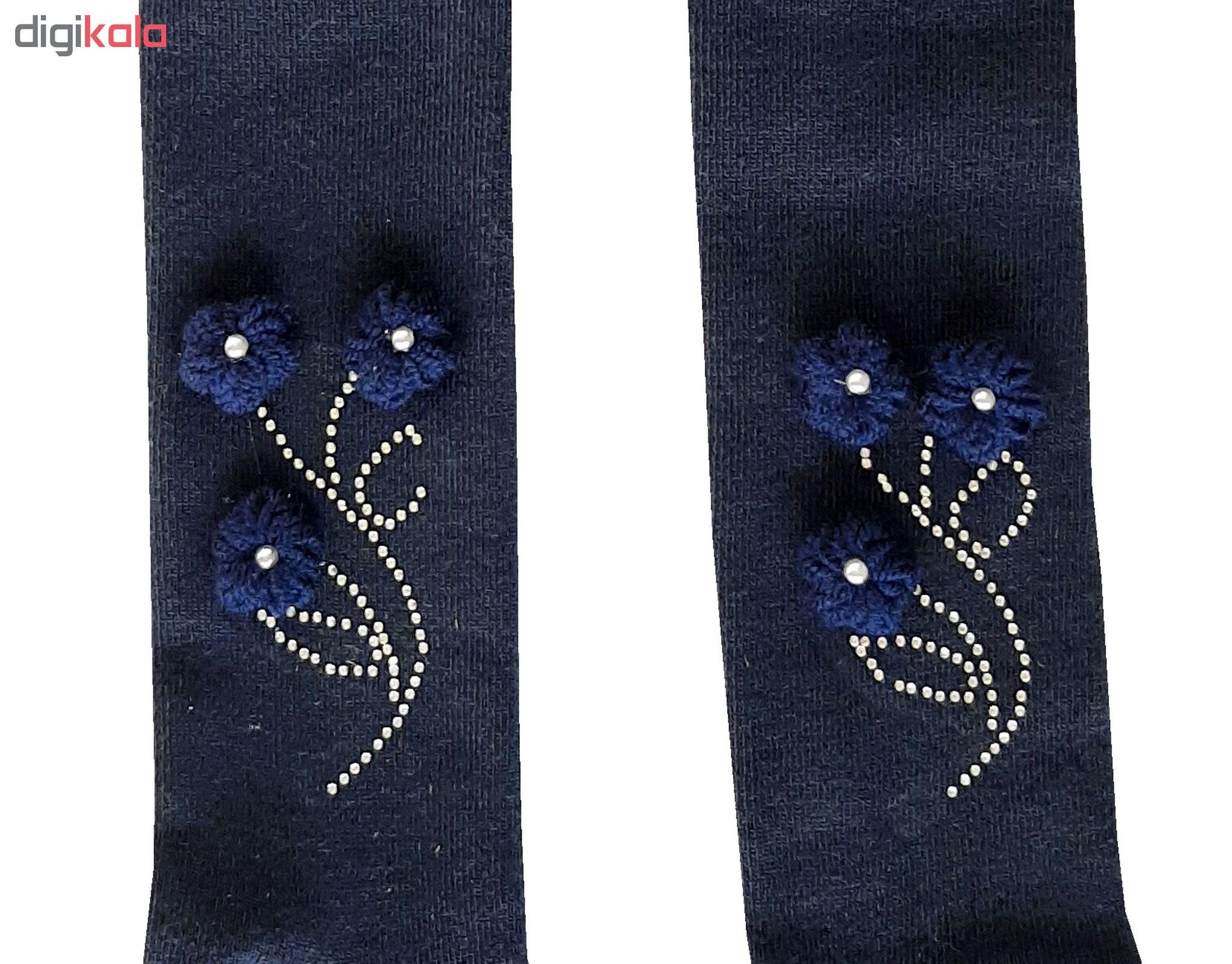 جوراب شلواری دخترانه کد 2200 رنگ سورمه ای main 1 2