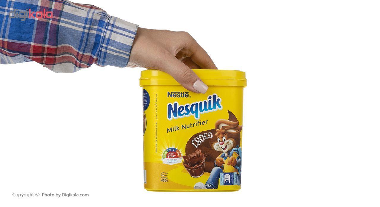 پودر شکلات نسکوئیک نستله مدل Milk Nutrifier مقدار 450 گرم main 1 5