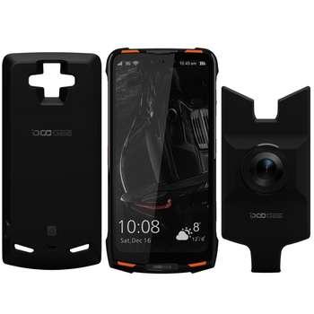 گوشی موبایل دوجی مدل S90 دو سیم کارت ظرفیت 128 گیگابایت همراه با ماژول دوربین دید در شب و پاوربانک