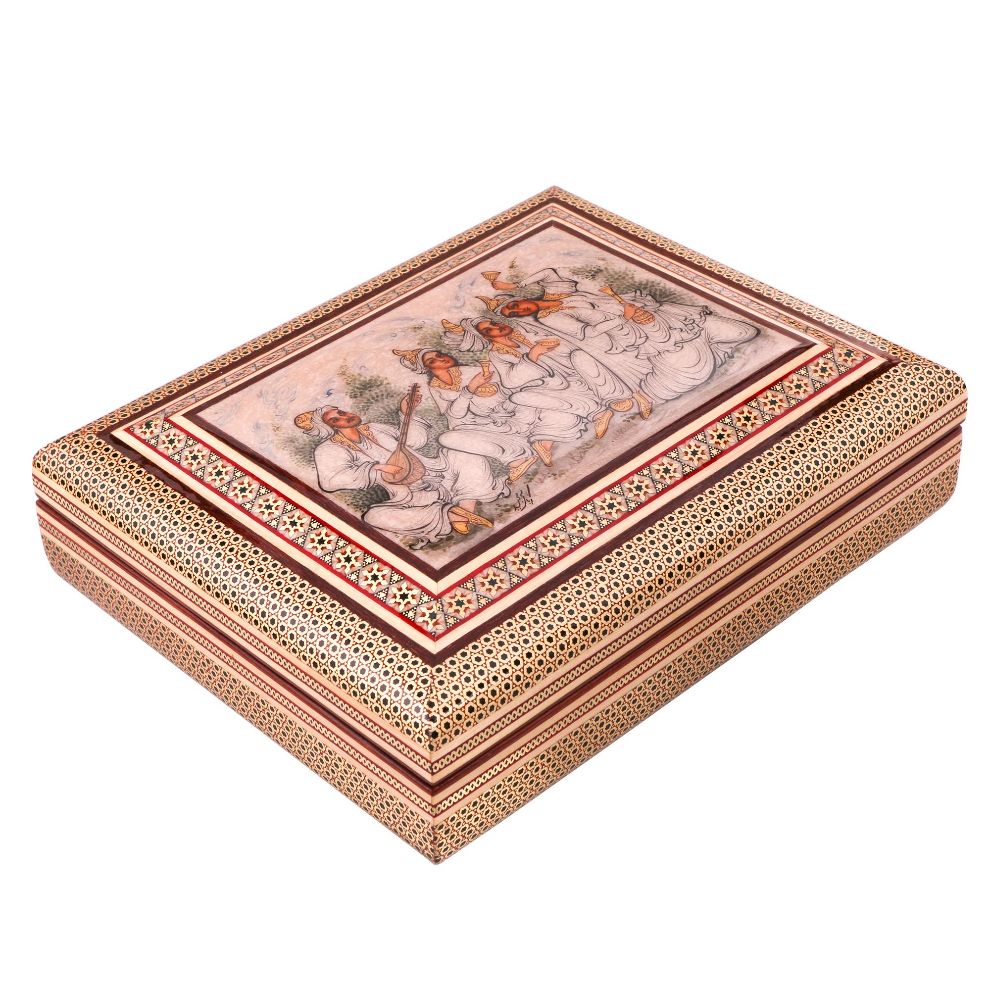 جعبه قرآن خاتم کاری کد 974