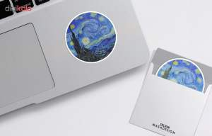استیکر لپ تاپ ماسا دیزاین طرح شب پر ستاره مدل STK6