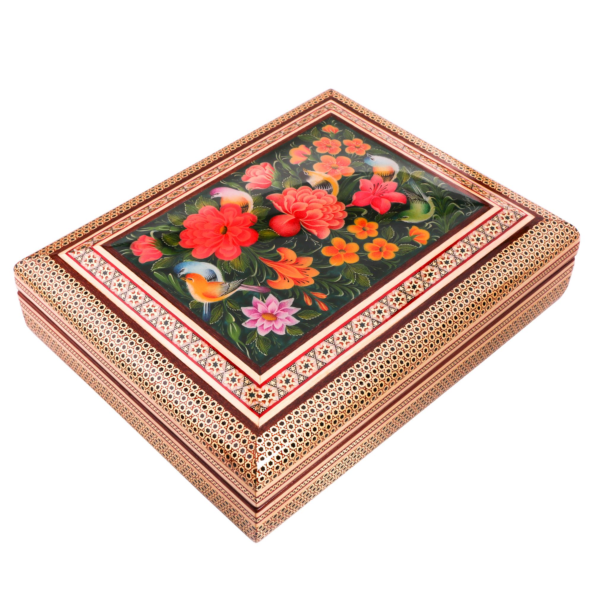 جعبه قرآن خاتم کاری کد 975