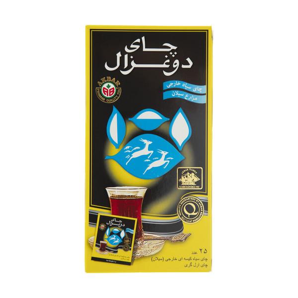 چای کیسه ای دو غزال مدل Earl Grey-1 بسته 25 عددی