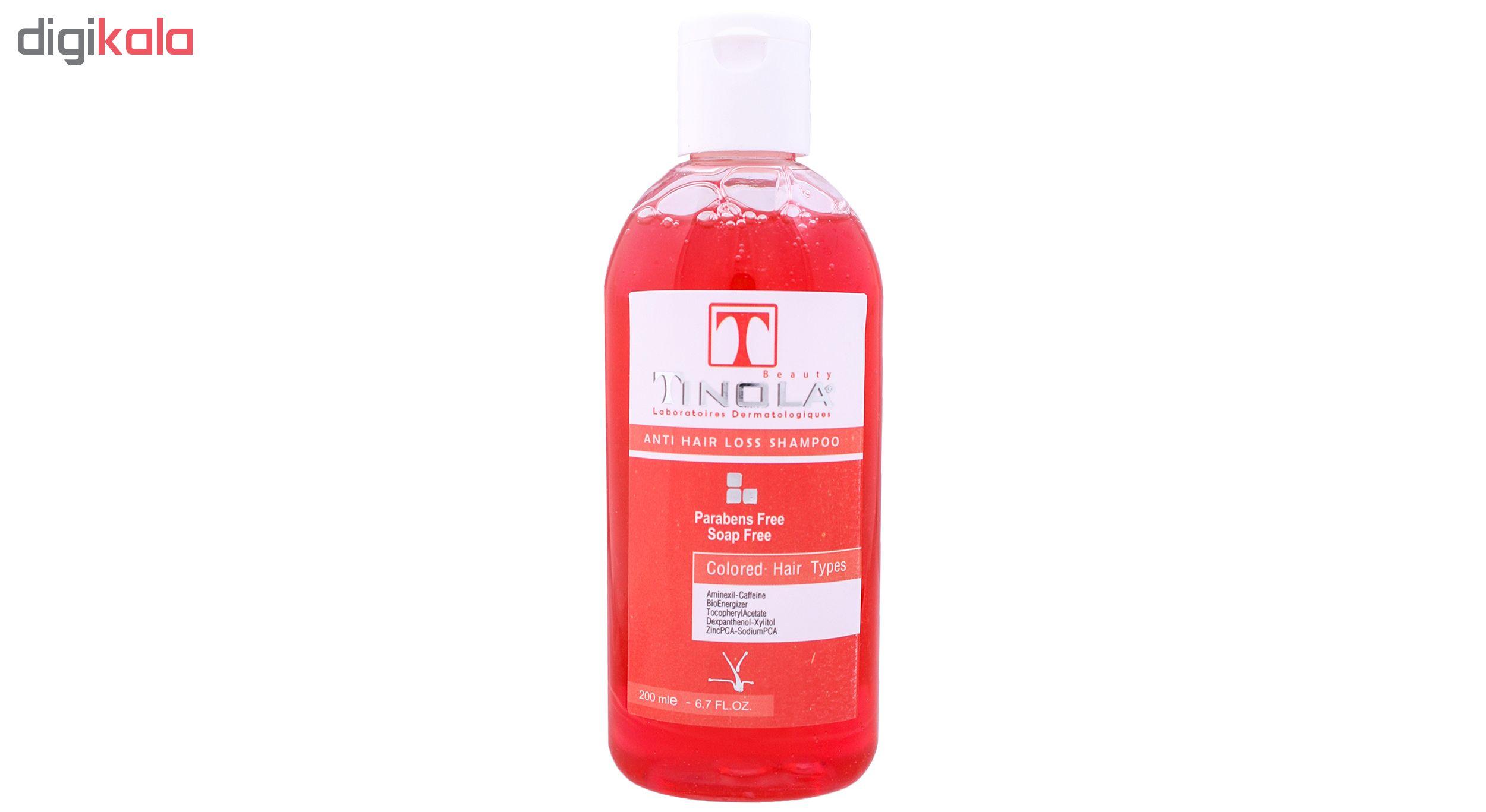 شامپو موی ضد ریزش و تقویت کننده  تینولا بیوتی کد TI04 حجم 200 میلی لیتر