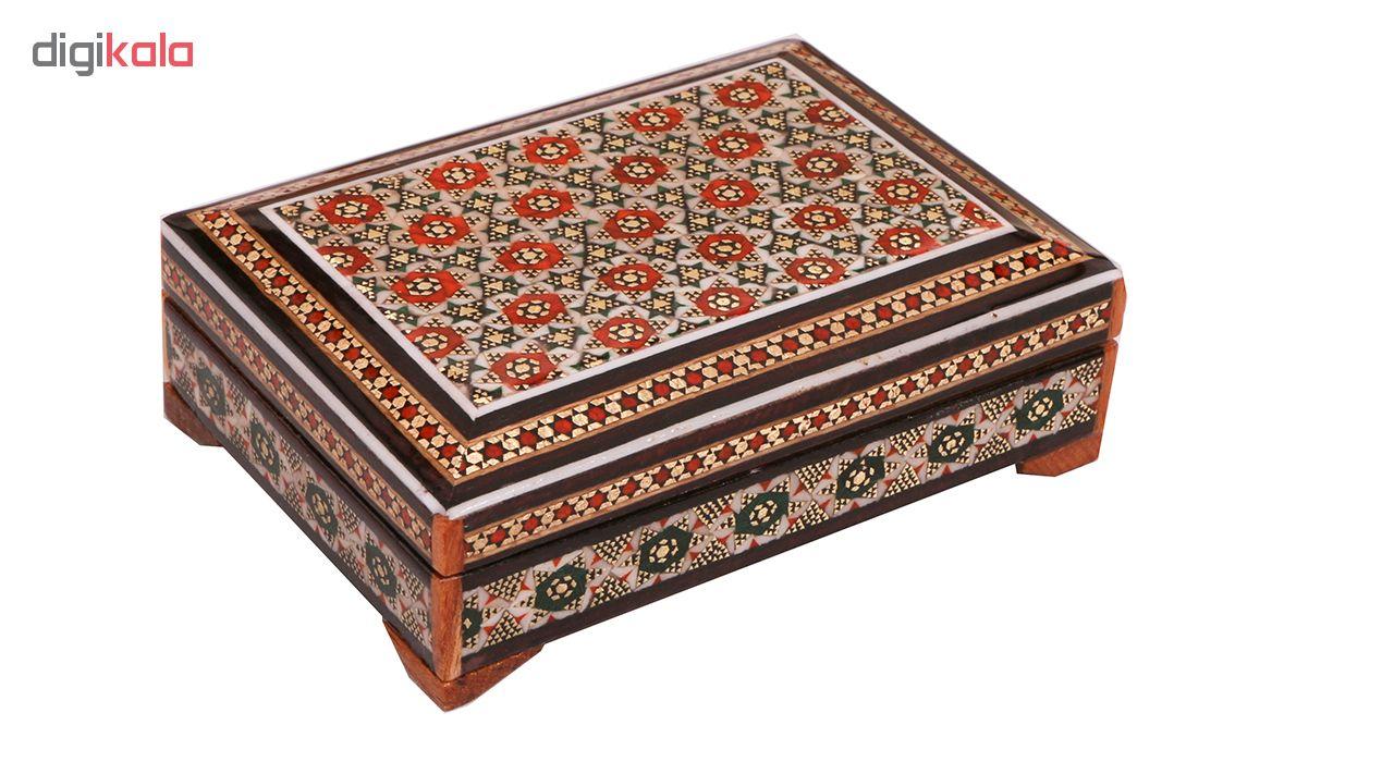 خرید                      جعبه جواهرات خاتم کاری کد 867