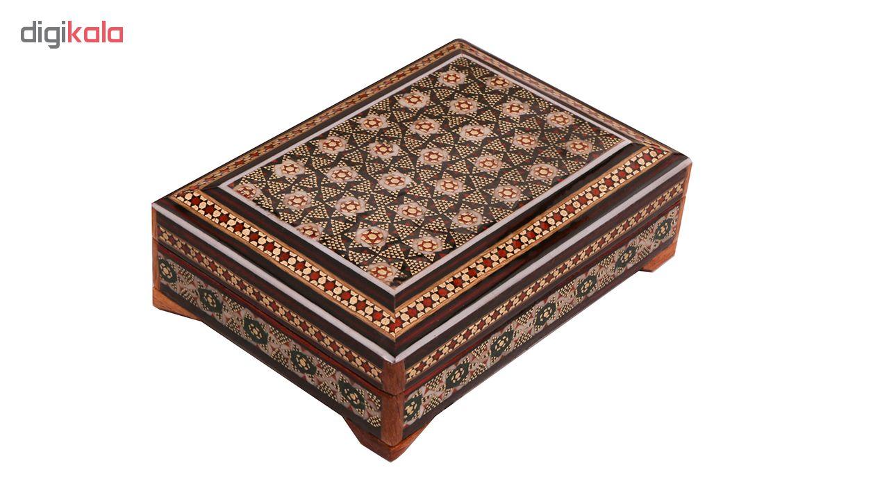 خرید                      جعبه جواهرات خاتم کاری کد 868