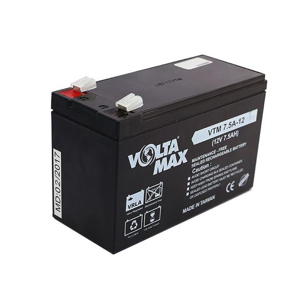 باتری یو پی اس 12 ولت 7.5 آمپرساعت ولتامکس مدل VTM