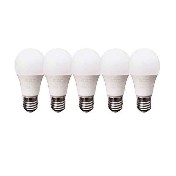 لامپ اس ام دی 10 وات ای دی سی مدل A60 پایه E27 بسته 5 عددی