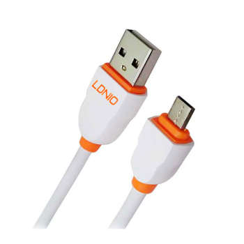 کابل تبدیل USB به microUSB الدینیو مدل LS02 طول 3 متر