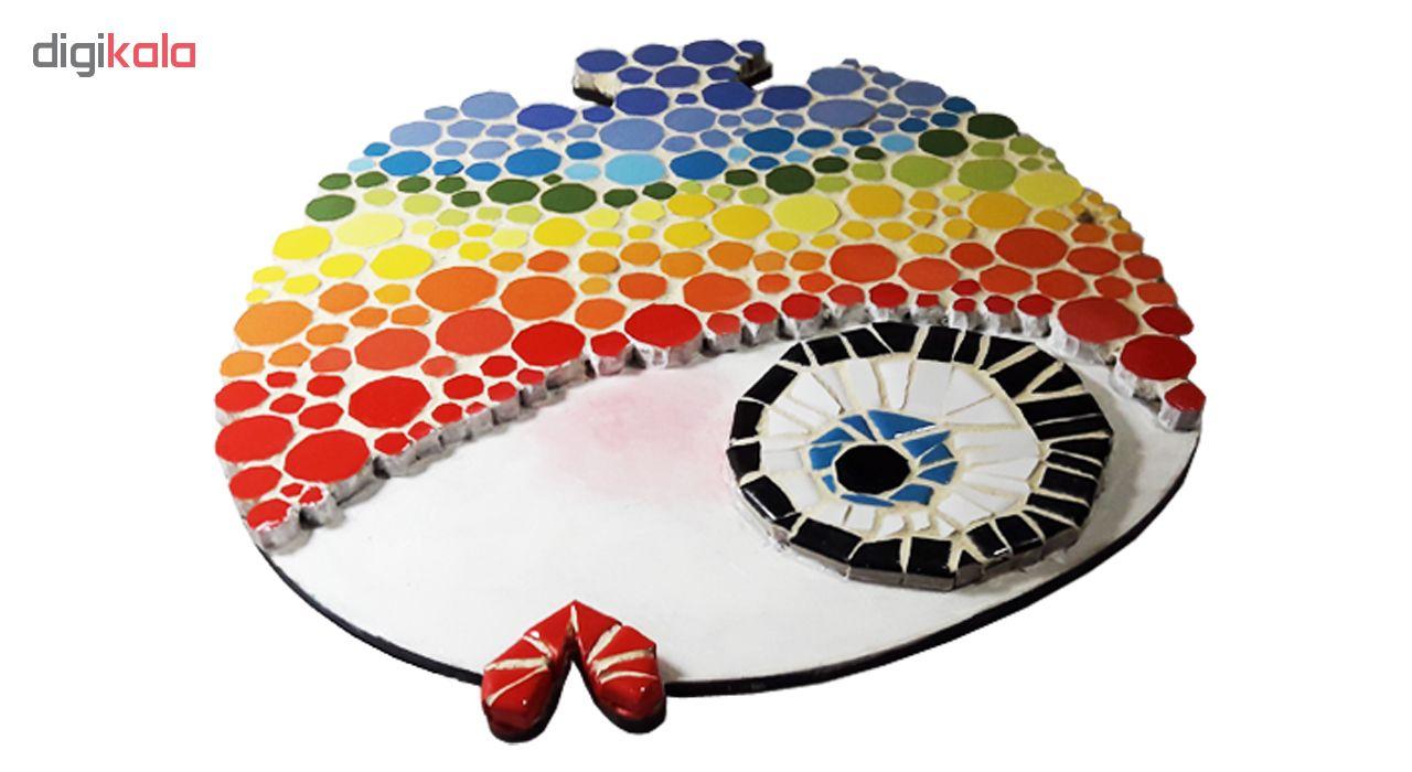 خرید                      تابلو کاشی کاری طرح ماهی رنگین کمانی کد MA-2-01