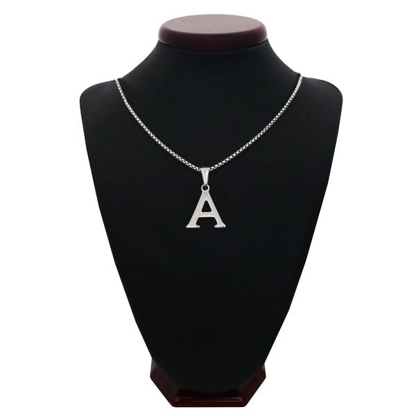 گردنبند مردانه طرح حرف A کد h02