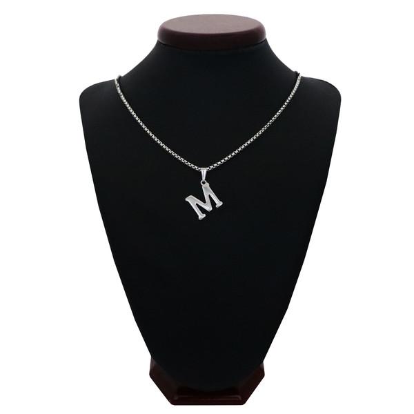 گردنبند مردانه طرح حرف M کد h03