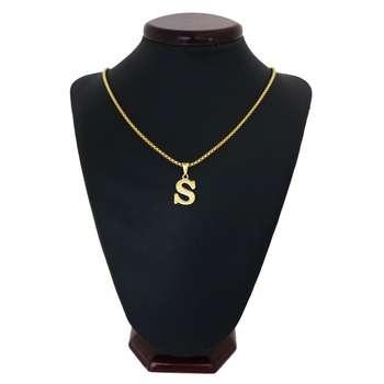 گردنبند مردانه طرح حرف S کد h05