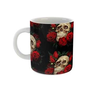 ماگ مدل skull and roses