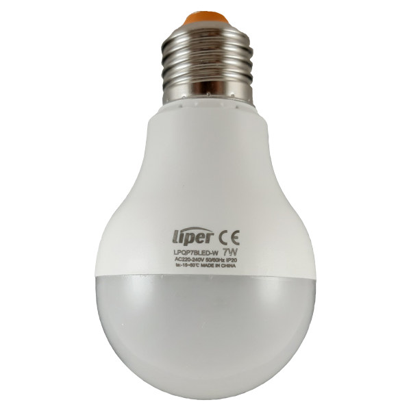 لامپ ال ای دی 7 وات لیپر مدل LPQP7CLED پایه E27