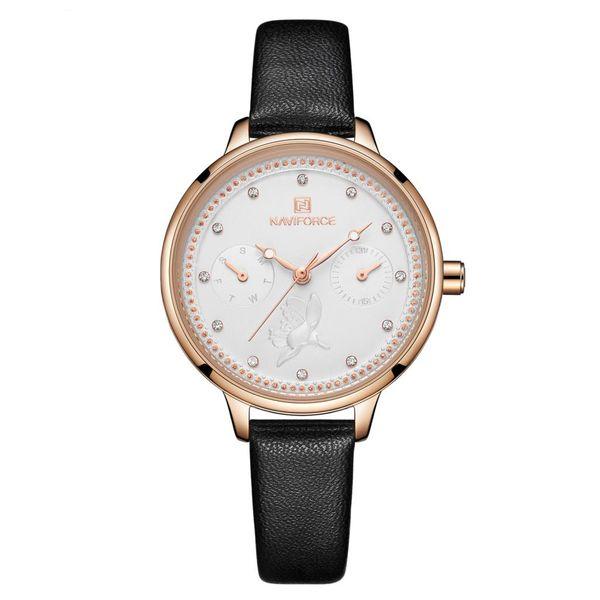 ساعت مچی عقربه ای زنانه نیوی فورس مدل NF5003L - ME-TA