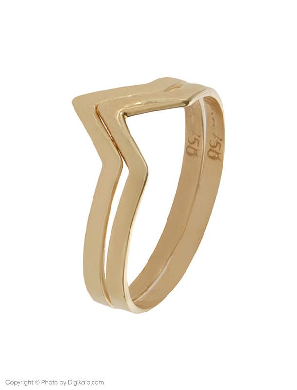 انگشتر طلا 18 عیار زنانه زرمان مدل ZMR0328 بسته 2 عددی