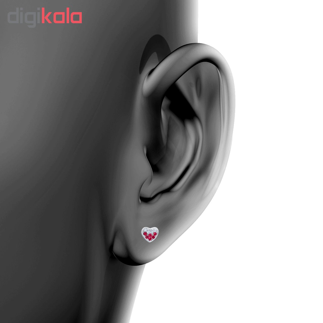 خرید                                      گوشواره نقره زنانه اقلیمه کد EN343