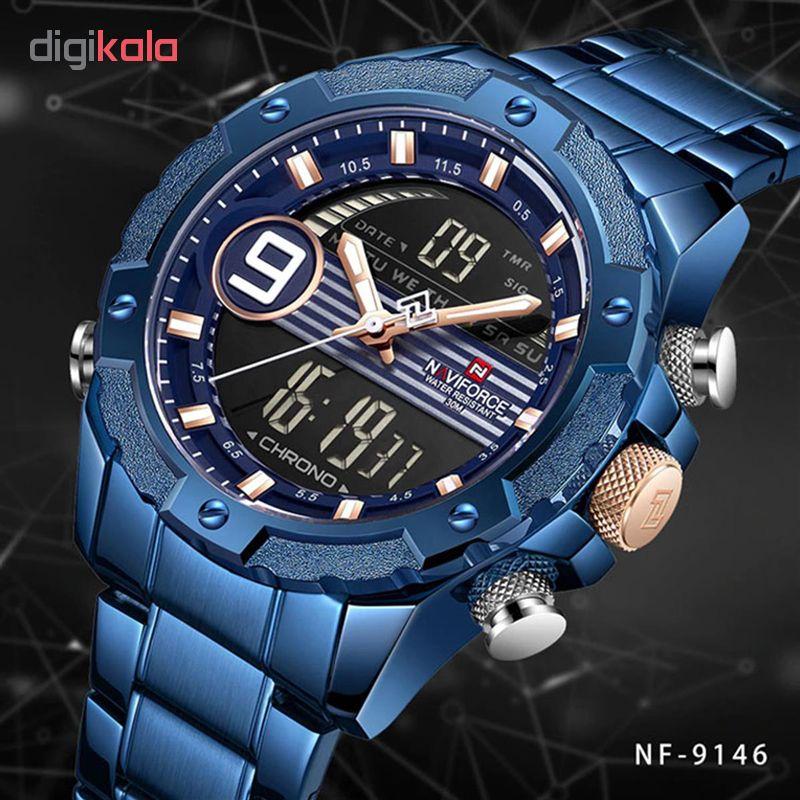 ساعت مچی دیجیتال مردانه نیوی فورس کد NF9146M - FE-SO             قیمت