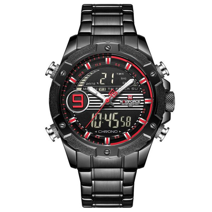 کد تخفیف                                      ساعت مچی دیجیتال مردانه نیوی فورس کد NF9146M - FE-ME-GHER