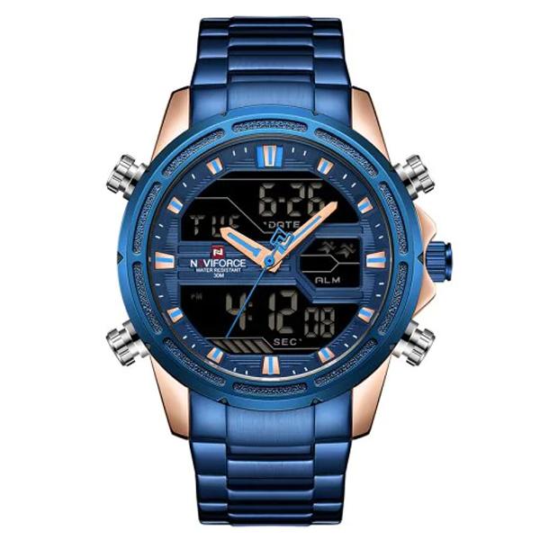 کد تخفیف                                      ساعت مچی عقربه ای مردانه نیوی فورس کد NF9138M - FE-SO-RO