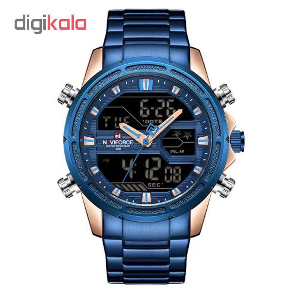 ساعت مچی عقربه ای مردانه نیوی فورس کد NF9138M - FE-SO-RO             قیمت