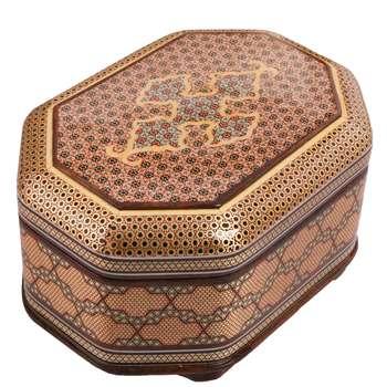 جعبه جواهرات خاتم کاری کد 905