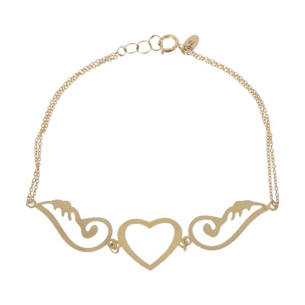 دستبند طلا 18 عیار زنانه زرمان مدل ZMB0937