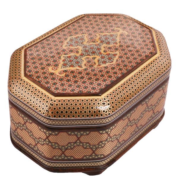 جعبه جواهر خاتم کاری کد 906