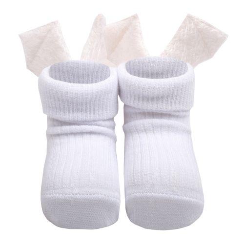 جوراب نوزادی دخترانه طرح بال فرشته کد AJ101