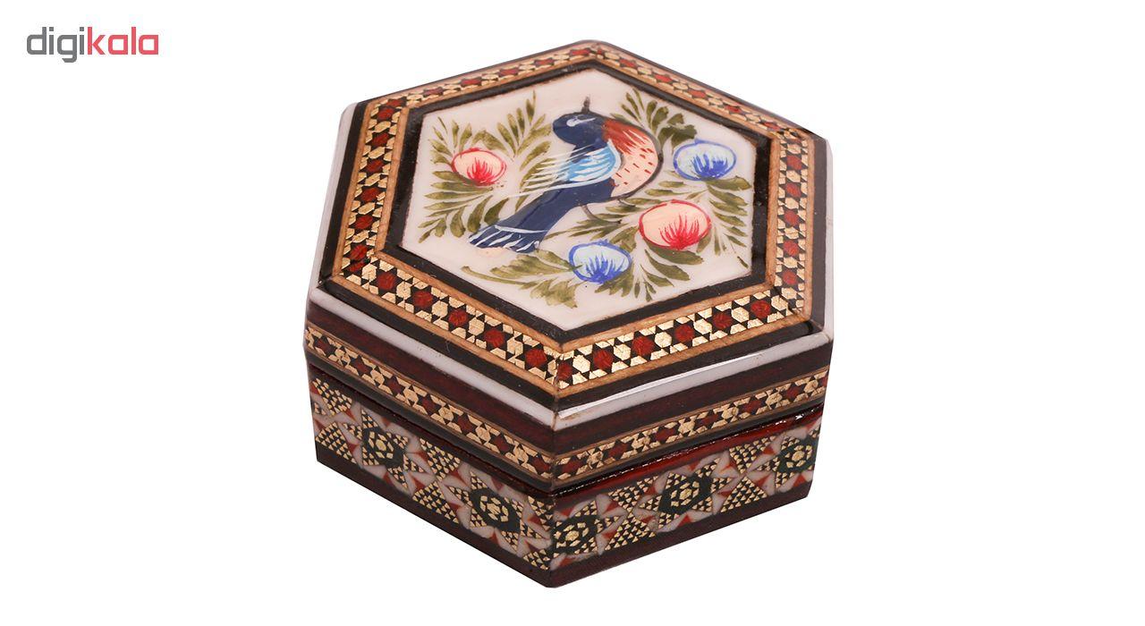 خرید                      جعبه جواهر خاتم کاری کد 910
