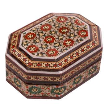 جعبه جواهر خاتم کاری کد 918