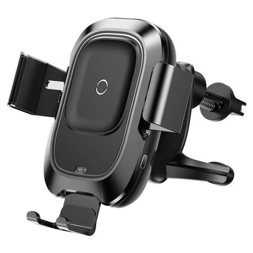 پایه نگه دارنده گوشی موبایل و شارژر بی سیم موبایل باسئوس مدل Smart Vehicle Bracket