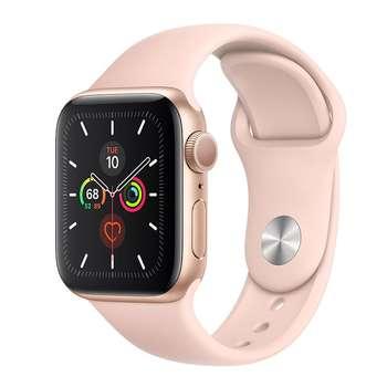ساعت هوشمند اپل واچ سری 5 مدل 44mm Gold Aluminum Case With Pink Sport Band