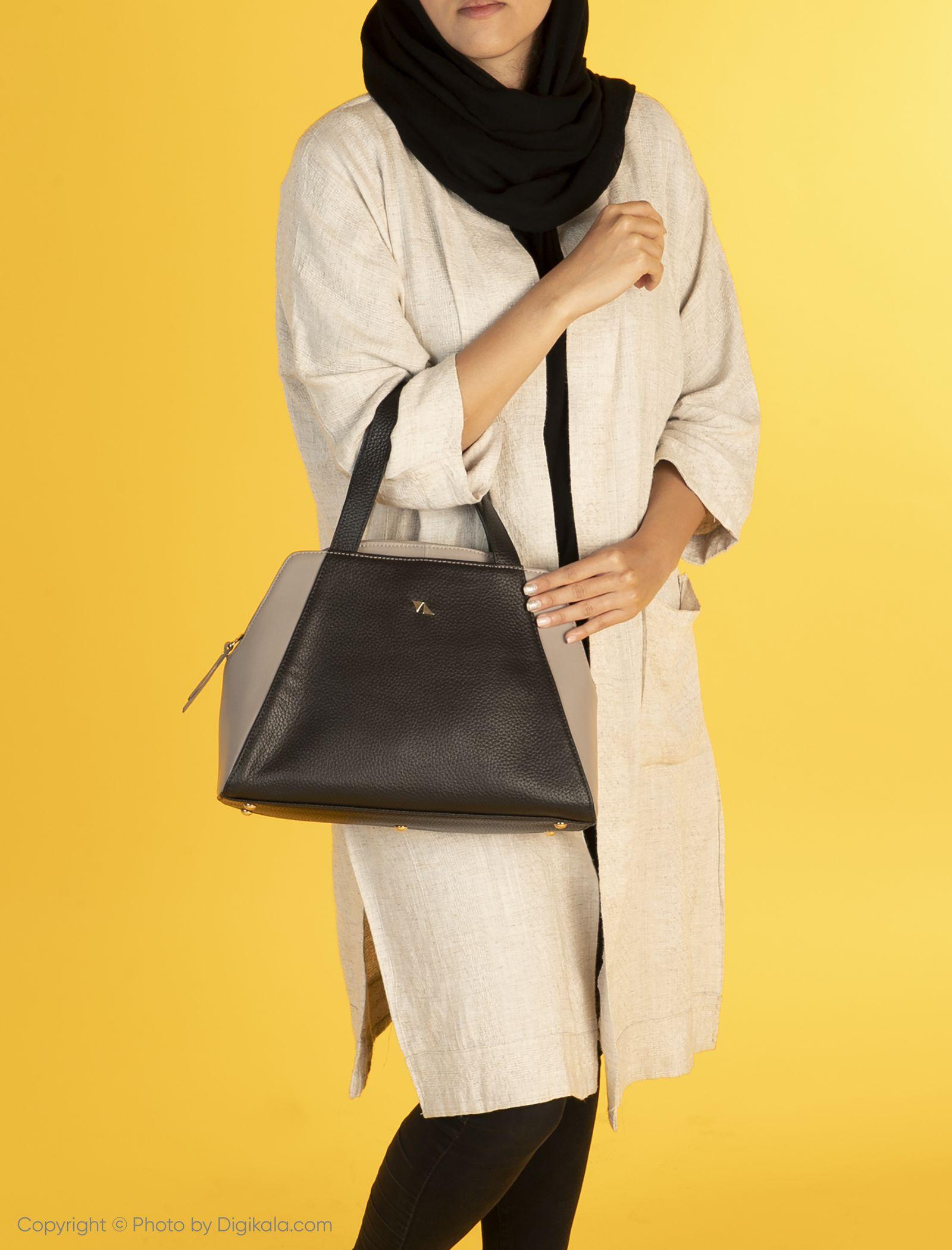 کیف دستی زنانه چرم مشهد مدل S0712-008 -  - 2